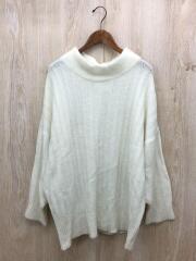 セーター(厚手)/--/ウール/WHT/TK181001-09