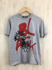 Tシャツ/L/コットン/GRY/無地