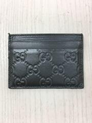 シマ/カードケース/レザー/ブラック/総柄/スプリームカードケース