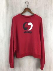 スウェット/S/コットン/RED/プリント