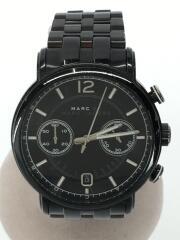 腕時計/アナログ/ステンレス/ブラック