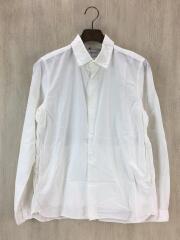 スナップボタンシャツ/長袖シャツ/S/コットン/ホワイト/無地