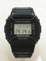 クォーツ腕時計/デジタル/ラバー/BLK/ブラック/G-SHOCK/ジーショック/スクエア/