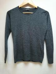 セーター(薄手)/S/ウール/GRY/SLIMFIT/スリムフィット/GERANIUM SWEATER CNLS