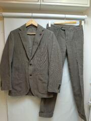 スーツ/46/コットン/BRW/コーデュロイ/セットアップ/テーラードジャケット/