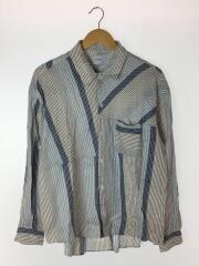 ビートストライプリラックスレギュラーカラーシャツ/2/コットン/ブルー/ストライプ/109500007