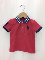 ポロシャツ/80cm/コットン/RED/ビックポニー