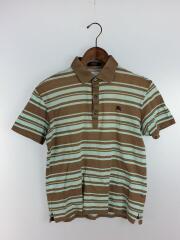 ポロシャツ/2/コットン/BRW/ボーダー