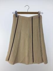 スカート/36/コットン/CRM/ライン/ニットスカート