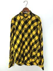Big flannel shirts/M/コットン/イエロー/チェック/3B006-0217-11