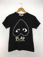 Tシャツ/逆さハートプリント/プレイロゴ/M/コットン/ブラック/AZ-T113/AD2010
