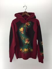 19SS/Floral Print Hooded Sweatshirt/パーカー/S/コットン/BRD/ボルド-/プルオーバー フローラルプリントフーデッドスウェットシャツ