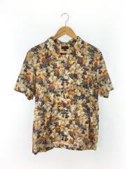 半袖シャツ/XL/コットン/マルチカラー/花柄/オープンカラー