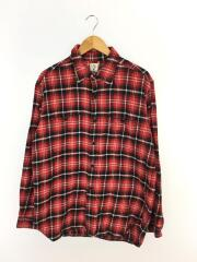 ネルシャツ/L/コットン/RED/2018AW/Work Shirts/