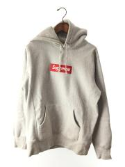 16aw/ Box Logo Hooded Sweatshirt/パーカー/M/コットン/GRY/プルオーバー ボックスロゴ