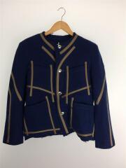 【タグ付】short Chanel Jacket/ジャケット/M/ウール/NVY