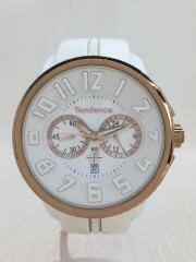 Tendence テンデンス/クォーツ腕時計/アナログ/ラバー/WHT/ホワイト