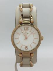 FOSSIL/ フォッシル/クォーツ腕時計/アナログ/レザー/WHT/BEG/ES3934