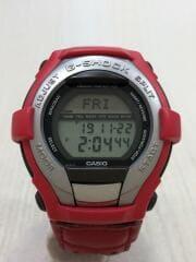 カシオ/クォーツ腕時計・G-SHOCK/デジタル/赤/レッド/GT-0000AB-4