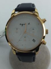 クォーツ腕時計/アナログ/VR42-KDD0/レザー/文字盤カラー:ホワイト