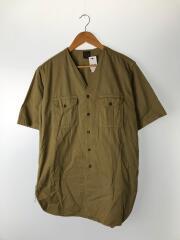 半袖シャツ/1/コットン/KHK/カーキ