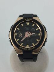 クォーツ腕時計・Baby-G/デジアナ/ラバー/GLD/CASIO/MSG-400G-1A1JF