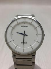 クォーツ腕時計/アナログ/ステンレス/ホワイト/シルバー/4J40-0AC0/DOLCE