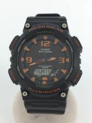 クォーツ腕時計/デジタル/ラバー/BLK/BLK/CASIO/カシオ/AQ-S810W