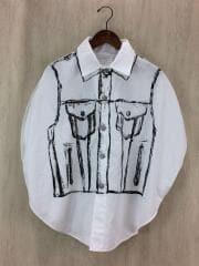 ガーメントバッグシャツ/半袖シャツ/FREE/コットン/WHT/タグ付