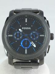 クォーツ腕時計/アナログ/ステンレス/ブラック/グレー/FS4931