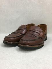 OLD PORT MOCCASIN/ローファー/UK6.5/ブラウン/レザー/MADE IN USA