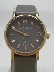 クォーツ腕時計/アナログ/レザー/GRY/GRY/mbm1318