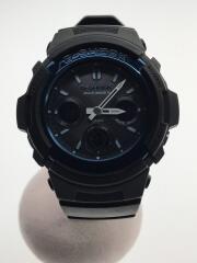 ソーラー腕時計・G-SHOCK/デジアナ/ブラック