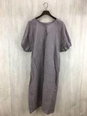 半袖ワンピース/FREE/リネン/ブラウン/FLD-1105420