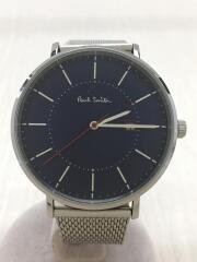 クォーツ腕時計/アナログ/ステンレス/BLU/1008