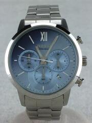 クォーツ腕時計/アナログ/ステンレス/BLU/VD53-KZB0