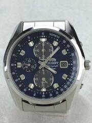 ソーラー腕時計/アナログ/ステンレス/BLU/SLV/TY01-C1