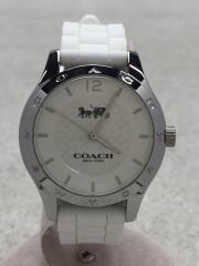 クォーツ腕時計/アナログ/ラバー/WHT/WHT/W6033