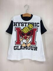 Tシャツ/100cm/WHT/白/カレッジロゴ/スタンダードマーク