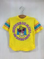 Tシャツ/100cm/コットン/YLW/黄色/ラウンドロゴ/スタンダードナーク
