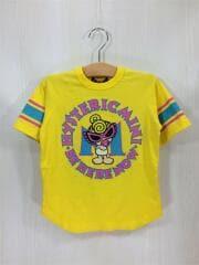 Tシャツ/110cm/コットン/YLW/プリント/STANDARD MARK/ラウンドロゴ