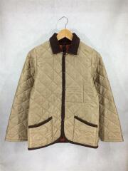 キルティングジャケット/アウター/ブルゾン/36/ポリエステル/ベージュ/無地/切替