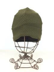 ニットキャップ/コットン/グリーン/緑/帽子/ヘッドウェア/カーキ/オリーブ/無地