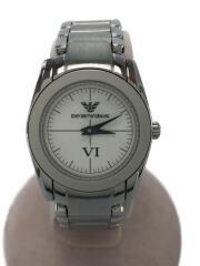 クォーツ腕時計/アナログ/ステンレス/BLK/SLV/AX2015