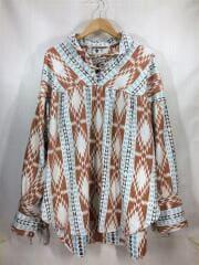 19AW/String Smock-Taos Flannel/プルオーバーシャツ/L/コットン/オレンジ/総柄