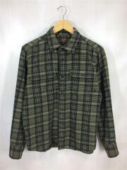ネルシャツ/長袖シャツ/M/コットン/チェック柄/トップス/ルード/メンズ/ストリート