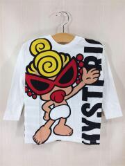 Tシャツ/100cm/コットン/WHT/プリント/STANDARD MARK/ロンT/前後リバーシブル