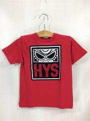 Tシャツ/110cm/コットン/RED/プリント/GRAFFTI MINI/HYS