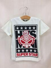 Tシャツ/120cm/コットン/WHT/HYS-MINI SUPER STAR/