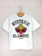 Tシャツ/120cm/コットン/WHT/プリント/PUFFY MINI/カラフルロゴ